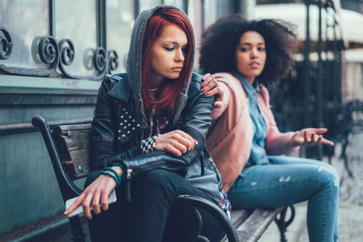 A young woman stops enabling her drug addicted friend